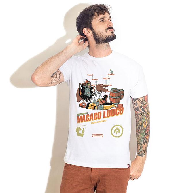 Футболка A Vingança do Macaco Louco